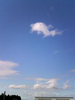 おかしな雲